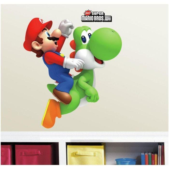 Yoshi e Mario Adesivo de parede