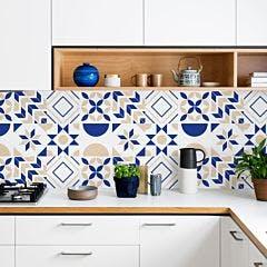 Azulejo Geometric Bleu