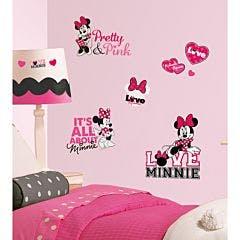 Adesivo de parede Minnie Loves