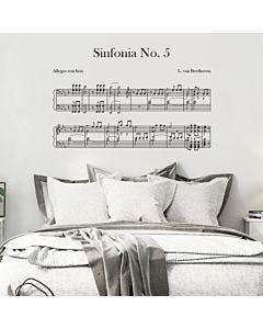 Adesivo de parede 5ª Sinfonia
