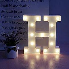 Luminoso Letra H