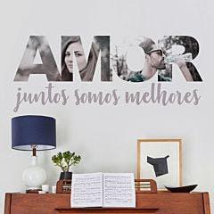 Painel de fotos personalizado Amor