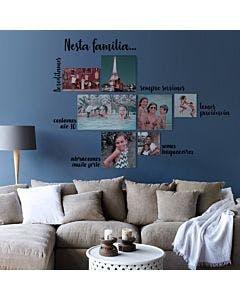 Painel de fotos personalizado Nesta Família
