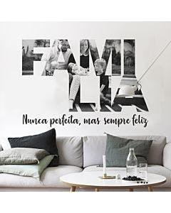 Painel de fotos personalizado Família