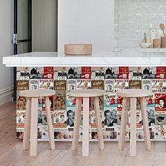 Revestimento Adesivo Rótulos Café
