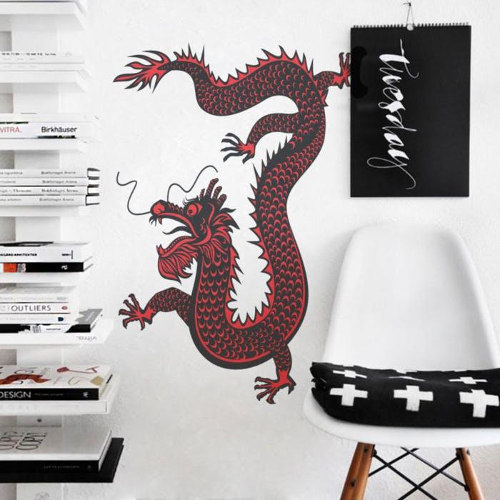 Adesivo de Parede Dragão Qing
