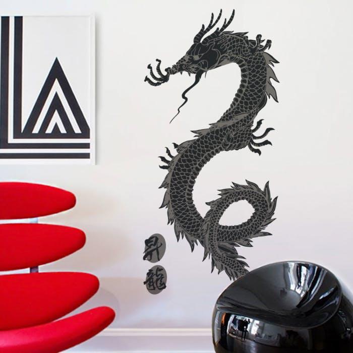 Adesivo de parede Dragão Tatsu