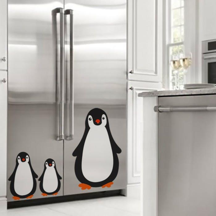 Adesivo de Parede Pinguim geladeira