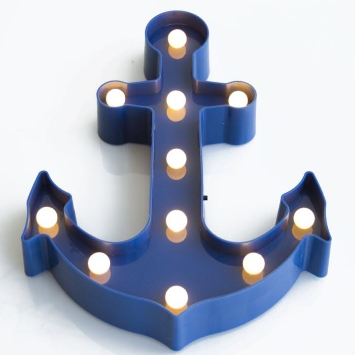 Luminaria Abajur Ancora Azul
