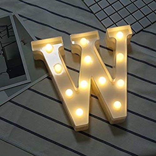 Luminoso Letra W