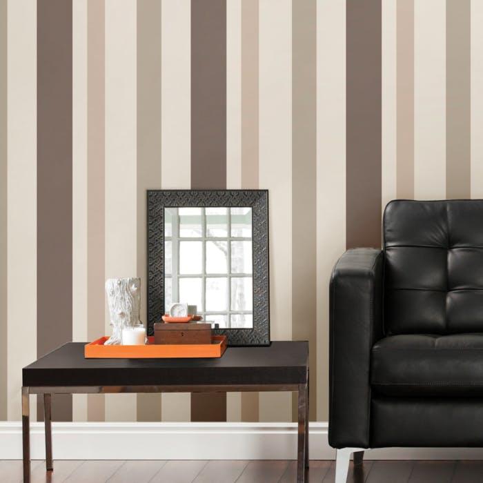 papel de parede listras marrom