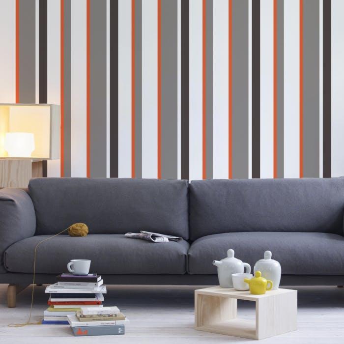 papel de parede toscana preto marrom e cinza