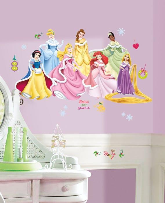 Cartela de Adesivos Princesas Inverno aplicada