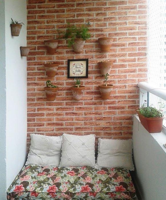 Papel de Parede Tijolo a vista 3 metros x 45 cm