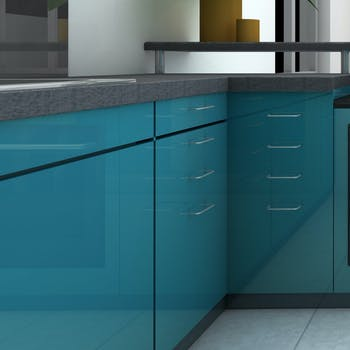 Revestimento para Móveis Uni Laca Azul Turquesa 3 METROS X 45 CM
