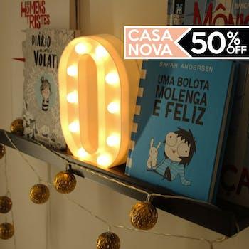 Letra O Luminaria Decorativa Luminosa LED