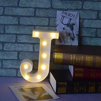 Luminoso Letra J
