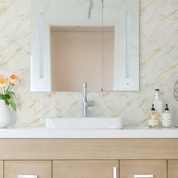 adesivo de parede marmore lavavel