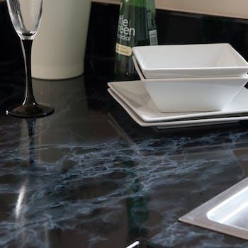 adesivo marmore preto lavavel para pia