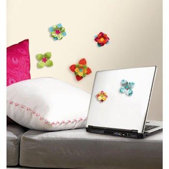 Adesivo Flores 3D