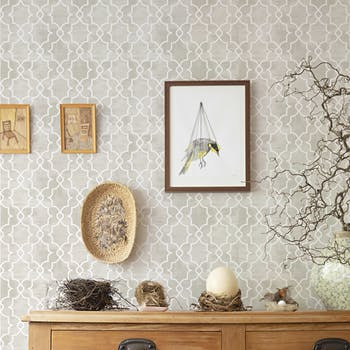 papel de parede arabesco bege adesivo