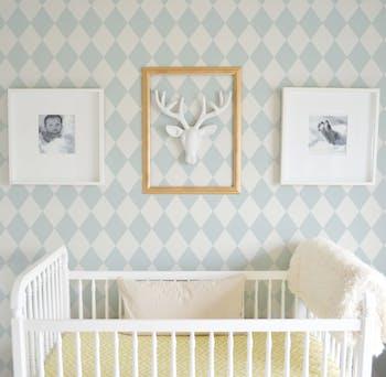 Papel de Parede para Quarto de Bebê Azul