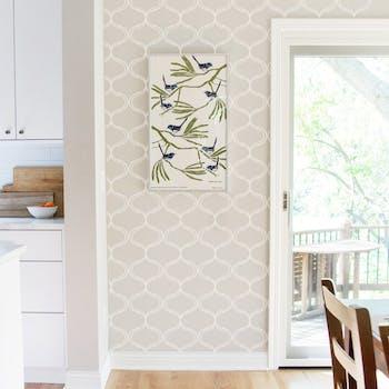 papel de parede para sala arabesco bege