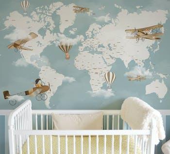 Papel de Parede Infantil Mapa