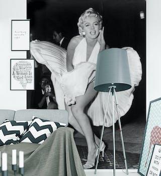 Papel de Parede Preto Painel Marilyn