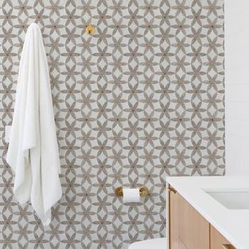 papel de parede floral stone