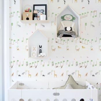 papel de parede safari musical