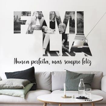 Papel de Parede Foto Personalizada Família