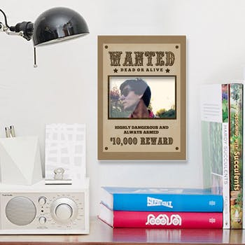 Porta Retrato de Parede Wanted