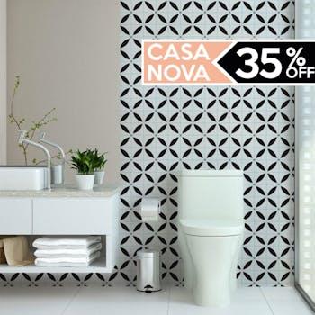 promocao papel de parede para banheiro preto