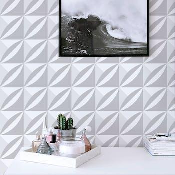 Papel de Parede 3D para Sala Branco