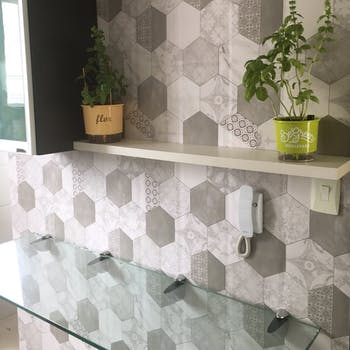 Revestimento Hexagon Tiles Cinza Claro