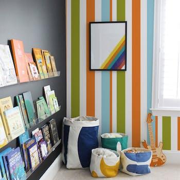 papel de parede colors funny laranja azul e verde