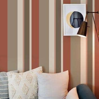 papel de parede  adesivo listras marrom