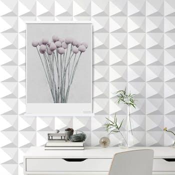 Papel de Parede Branco para Sala 3D
